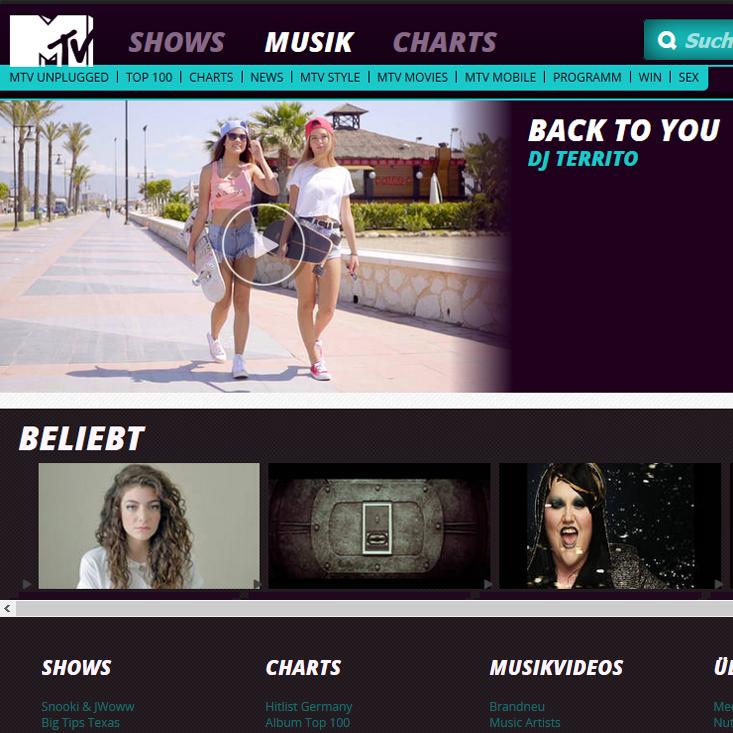 DJ Territo Back To You on MTV